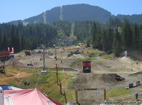 The setup at Whistler