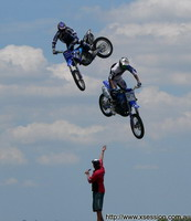 extreme sport photos Double jump action