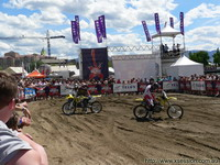 The dirt bike track at Wakefest!